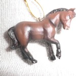 Dark Bay horse ornament~New number