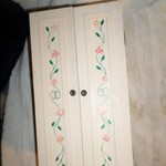 Handmade wooden vintage barbie wardrobe~new number