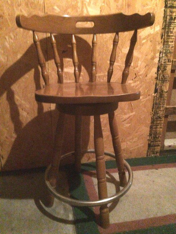 3 tall wooden bar stools