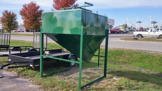 Portable Feed Storage Bins : Bulk grain bins portable and stationary discoverstuff