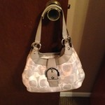 Coach Soho optic linen hobo purse