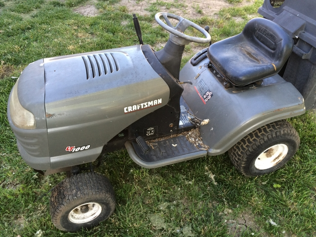 Craftsman Rear Bagger Parts : Riding mower for parts craftsman lt briggs and
