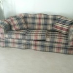 Plaid sofa
