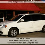 2012 Dodge Grand Caravan SXT  Tinted Windows
