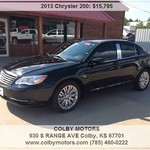 2013 Chrysler 200 Black/Chrome/Tinted as low as $262.97