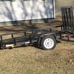 5' x 8' Utility Trailer with fold up ramp