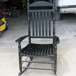 BLACK wooden rocker for SALE