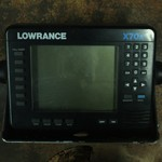 Lowrance X-70 fish graph with transducer--LOWERED--