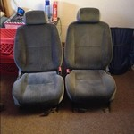 2 grey ford car seats