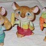 Homco Home Interiors Vintage Big Mice figurines #5601- 3