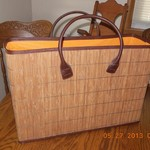 Strong Sturdy Wicker Picnic Basket Tote Lake Camping NEW