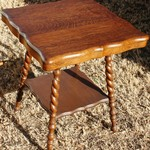 Mint Condition Antique Tiger Oak Parlor Table