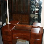 Vintage Full Size 3 Piece Dark Walnut Bedroom Set