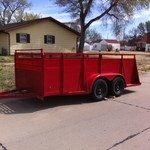 14 foot utility/ atv/ motorcycle trailer