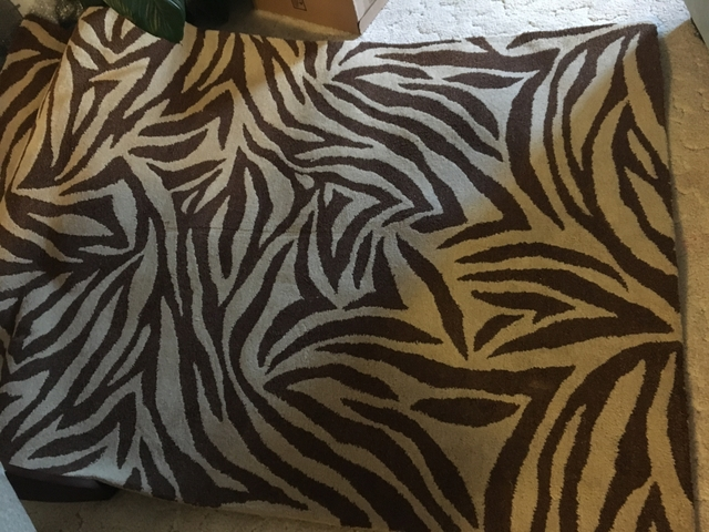 Zebra rug- brown and tan
