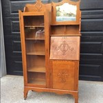 Antique Bookcase Secretary