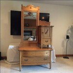 Antique Gentleman's Dresser & Matching Wash Stand