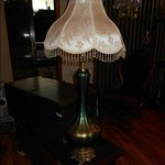 Vintage Iridescent Table Lamp