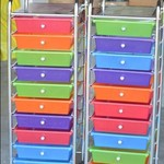 Colorful Rolling Drawers NEW!