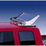 Banzai stainless steel turbo wing with lights for Peterbilt