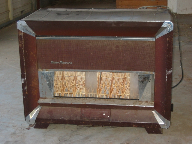 Warm morning gas heater made by locke stove co ptci classifieds