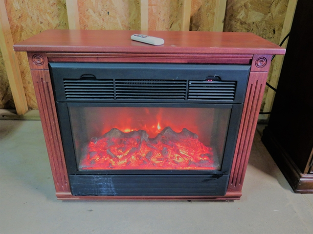 Heat Surge Amish Electric Fireplace With Remote Has Wheels Nex Tech Classifieds