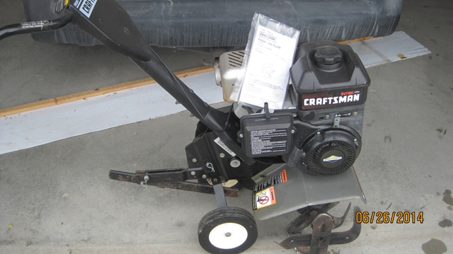 Craftsman 5 Hp 24 Tiller Manual : Craftsman rototiller hp quot works great nex