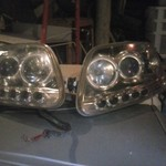 Head lights for 96-00 Ford pickup