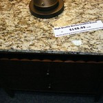 REDUCED AGAIN:GRANITE TOP NIGHT STAND, top of the line