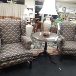 Matching Wingback Chairs-Fire Pattern