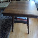 Antique Mission Oak Two-Tier  Table