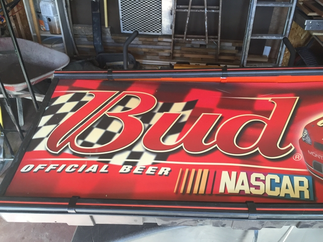 Dale Earnhardt Jr-Budweiser-Nascar Large Lighted Bar Sign