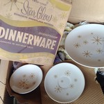 Antique 1960s Dinnerware -- 4pc Set ONLY $65