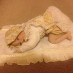 Collector Porcelain Baby Doll -- in box, with certificate