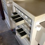 Storage/tool carts with bins