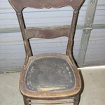 1 Old Wooden Chair.