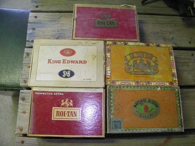 6 Old Cigar Boxes
