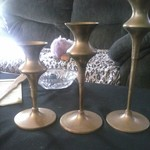 assorted brass decor