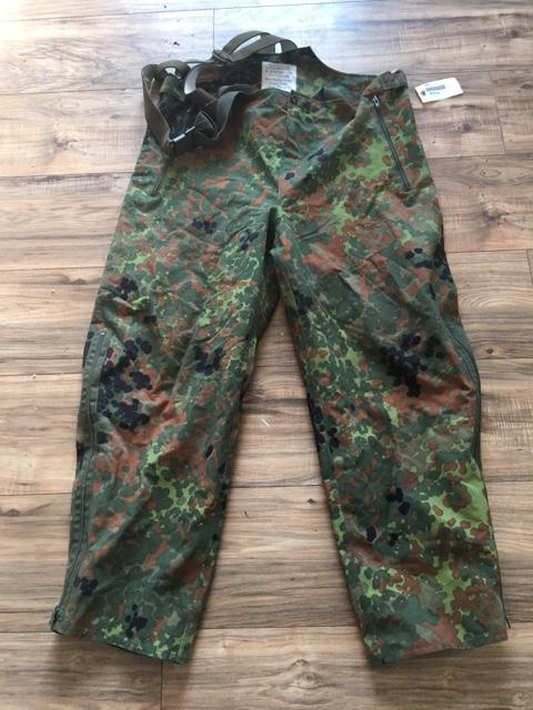 German Military Gore-Tex Flectarn Camo Field Pants w Suspen