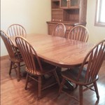 Packaged Deal: Beautiful Dining Room Table and Chairs AND HU