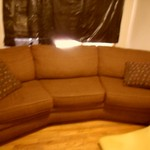 PRICE DRASTICALLY REDUCED AGAIN! CURVED SOFA