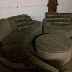 2 piece sectional, chair and ottoman