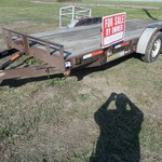 2004  H & H TLT 18FT FLAT BED CAR TRAILER