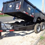 2015 Eagle Dump trailer 12'- 7k Axles, Elec over Hyd lift