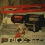 NIB ATV 2000 LB Winch Kit with Remote