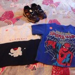 Baby boy18 mos.shirt and toddler shirt 3t light up shoes