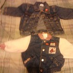 Top Blue Jean jacket 18 mos.,bottom 12 mos.bear/ plane