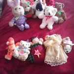 5-Stuffed Animals.25 each/6/.50 each stuffed animals