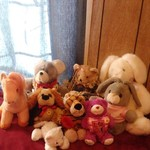 9 stuffed animals $2.00 each