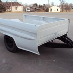 Chevy Pickup Bed Trailer *New Paint and Floor* White & Black